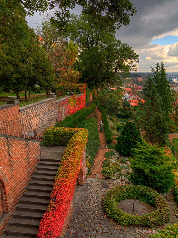 In the gardens of Prague castle(1)
