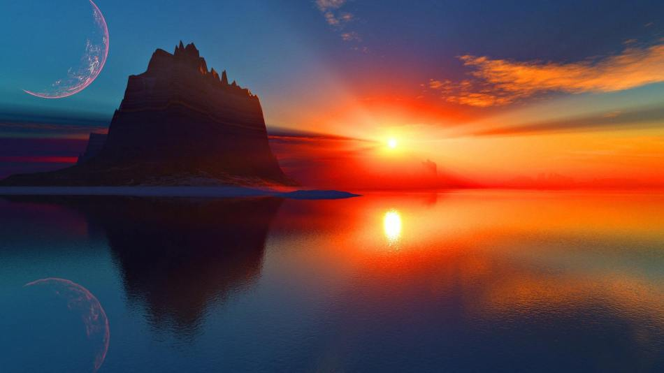 Unreal-Sunset-Reflection-Wallpaper-441842