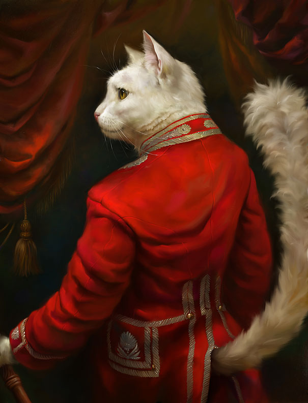 Cats Portrayed As Royalty